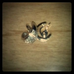 NWT NAPIER SILVER CLIP ON EARRINGS